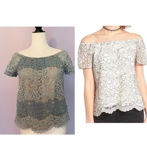 WAYF Lace Off The Shoulder Blouse from Nordstrom